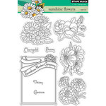Penny Black - Clear Acrylic Stamps - Sunshine Flowers