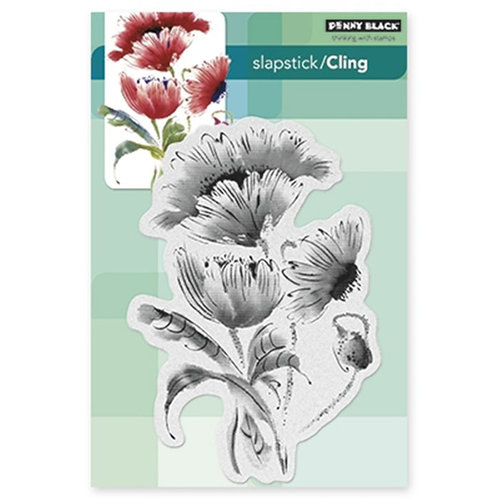 Penny Black - Cling Mounted Rubber Stamps - Pop Pop Poppy