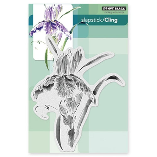 Penny Black - Cling Mounted Rubber Stamps - Pure Iris
