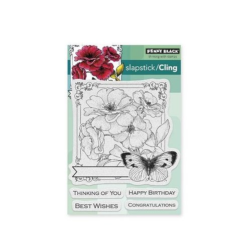 Penny Black - Cling Mounted Rubber Stamps - Collage of Wishes
