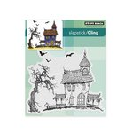 Penny Black - Halloween - Cling Mounted Rubber Stamps - Dark House