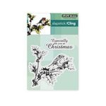 Penny Black - Christmas - Cling Mounted Rubber Stamps - Holly Tweet