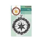 Penny Black - Christmas - Cling Mounted Rubber Stamps - Starry Wreath