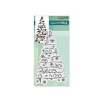 Penny Black - Christmas - Cling Mounted Rubber Stamps - Tree Chirps