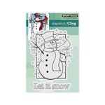 Penny Black - Christmas - Cling Mounted Rubber Stamps - Frosty's Wish