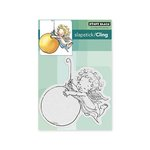 Penny Black - Christmas - Cling Mounted Rubber Stamps - Angel Swing