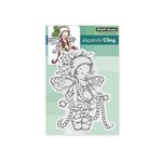 Penny Black - Christmas - Cling Mounted Rubber Stamps - Garland Pixie