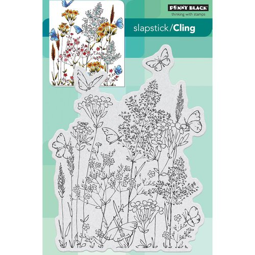 Penny Black - Cling Mounted Rubber Stamps - Butterfly Dance