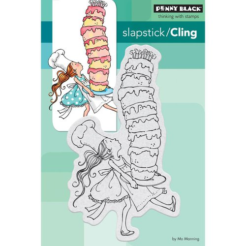 Penny Black - Cling Mounted Rubber Stamps - Tall Cake
