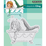 Penny Black - Cling Mounted Rubber Stamps - Mermaid Bath