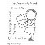 My Favorite Things - Pure Innocence - Clear Acrylic Stamps - I Heart You