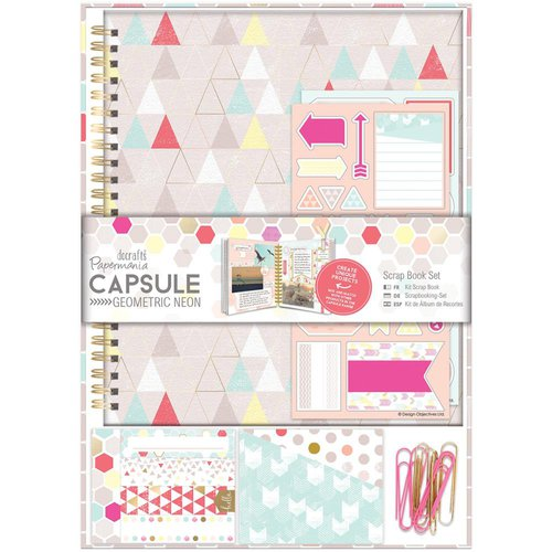 Docrafts - Papermania - Capsule Collection - Geometric Neon - Scrapbook Kit