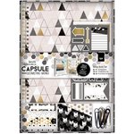 Docrafts - Papermania - Capsule Collection - Geometric Mono - Scrapbook Kit