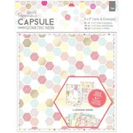 Docrafts - Papermania - Capsule Collection - Geometric Neon - 6 x 6 Cards with Envelopes