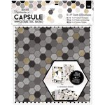 Docrafts - Papermania - Capsule Collection - Geometric Mono - 6 x 6 Cards with Envelopes
