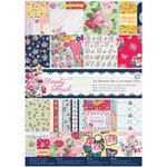 DoCrafts - Papermania - Capsule Collection - Simply Floral - Ultimate A4 Die Cut Paper Pack