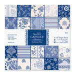 DoCrafts - Papermania - Parisienne Blue Collection - 6 x 6 Paper Pack