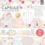 Docrafts - Papermania - Capsule Collection - Geometric Neon - 6 x 6 Paper Pack
