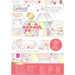 Docrafts - Papermania - Capsule Collection - Geometric Neon - A4 Ultimate Die Cuts and Paper Pack