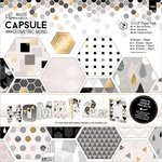 Docrafts - Papermania - Capsule Collection - Geometric Mono - 12 x 12 Paper Pack