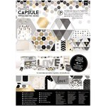 Docrafts - Papermania - Capsule Collection - Geometric Mono - A4 Ultimate Die Cuts and Paper Pack