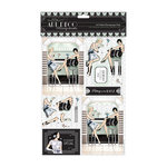 DoCrafts - Papermania - Art Deco Collection - A4 Decoupage Pack with Foil Accents - Cocktails