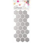 Docrafts - Papermania - Capsule Collection - Geometric Neon - Adhesive Mirror Shapes