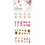 Docrafts - Papermania - Capsule Collection - Geometric Neon - Embellishments