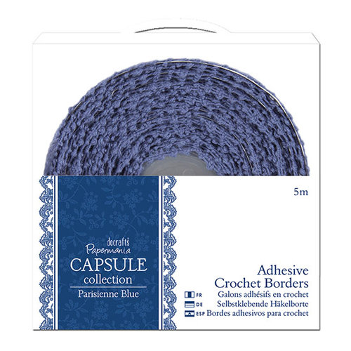DoCrafts - Papermania - Parisienne Blue Collection - Adhesive Crochet Border