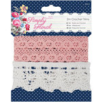 DoCrafts - Papermania - Capsule Collection - Simply Floral - Crochet Trims