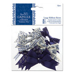 DoCrafts - Papermania - Parisienne Blue Collection - Large Ribbon Bows