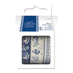 DoCrafts - Papermania - Parisienne Blue Collection - Fabric Tape