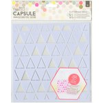 Docrafts - Papermania - Capsule Collection - Geometric Neon - Adhesive Stencil - 8 x 8 - Triangles