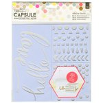 Docrafts - Papermania - Capsule Collection - Geometric Neon - Adhesive Stencils - 3 Pack
