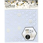 Docrafts - Papermania - Capsule Collection - Geometric Mono - Adhesive Stencil - 8 x 8 - Hexagons