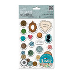 DoCrafts - Papermania - Sew Lovely Urban Stamps - Cling Mounted Rubber Stamps - Mixed Buttons