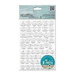 DoCrafts - Papermania - Sew Lovely Urban Stamps - Cling Mounted Rubber Stamps - Stitched Alphabets