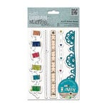 DoCrafts - Papermania - Sew Lovely Urban Stamps - Cling Mounted Rubber Stamps - Trim Borders