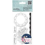 Docrafts - Papermania - Capsule Collection - Simply Floral - Tall Urban Stamps - Flower Doily