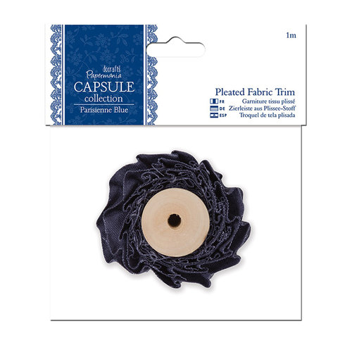 DoCrafts - Papermania - Parisienne Blue Collection - Pleated Fabric Trim