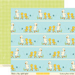 October Afternoon - Ducks In a Row Collection - 12 x 12 Double Sided Paper - Splish Splash, BRAND NEW