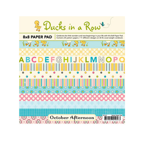 October Afternoon - Ducks In a Row Collection - 8 x 8 Paper Pad, BRAND NEW
