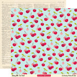 October Afternoon - Cherry Hill Collection - 12 x 12 Double Sided Paper - Tea Towel, BRAND NEW