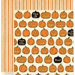 October Afternoon - Witch Hazel Collection - Halloween - 12 x 12 Double Sided Paper - Seeds of Thyme