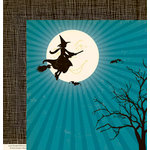 October Afternoon - Witch Hazel Collection - Halloween - 12 x 12 Double Sided Paper - Gleam of Moon