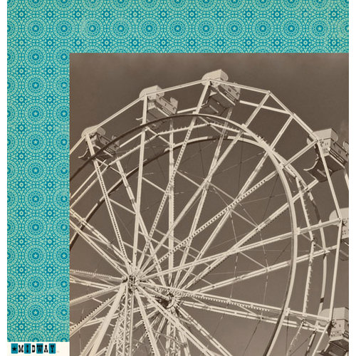 October Afternoon - Midway Collection - 12 x 12 Double Sided Paper - Ferris Wheel