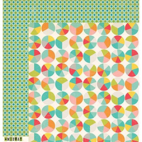 October Afternoon - Midway Collection - 12 x 12 Double Sided Paper - Ring Toss