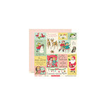 October Afternoon - Make it Merry Collection - Christmas - 12 x 12 Double Sided Paper - Make a Card