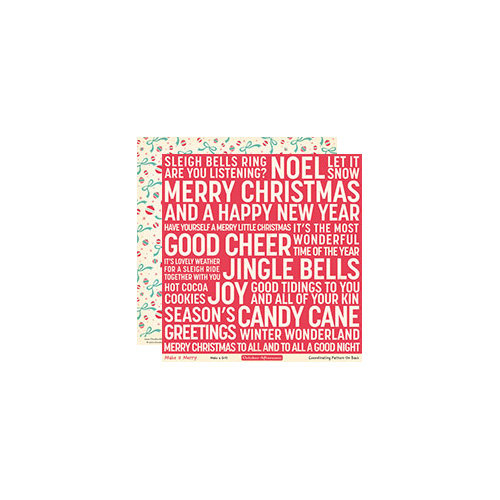 October Afternoon - Make it Merry Collection - Christmas - 12 x 12 Double Sided Paper - Make a Gift