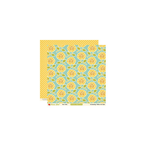 October Afternoon - Farm Girl Collection - 12 x 12 Double Sided Paper - Rose Trellis